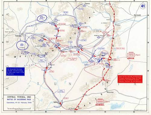 Campaign In Northwest Africa, The Battle Of Kasserine Pass 14-22 February1942