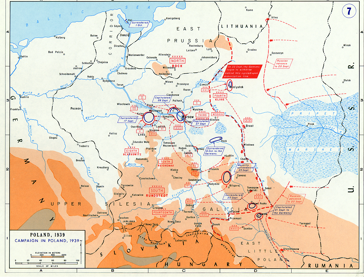 Battle Of Poland Maps Historical Resources About The Second - Poland map