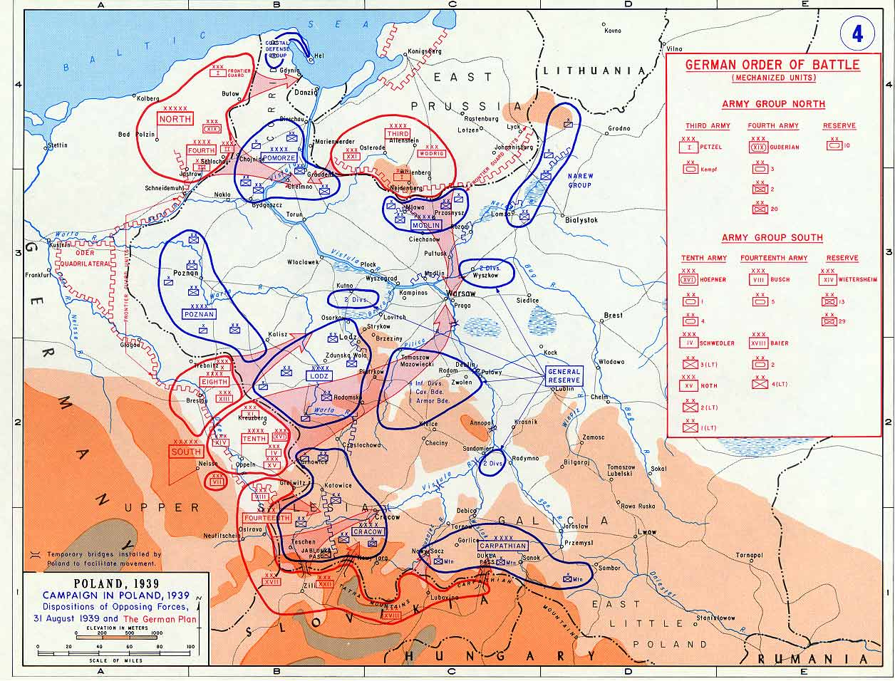 battle of poland maps historical resources about the second