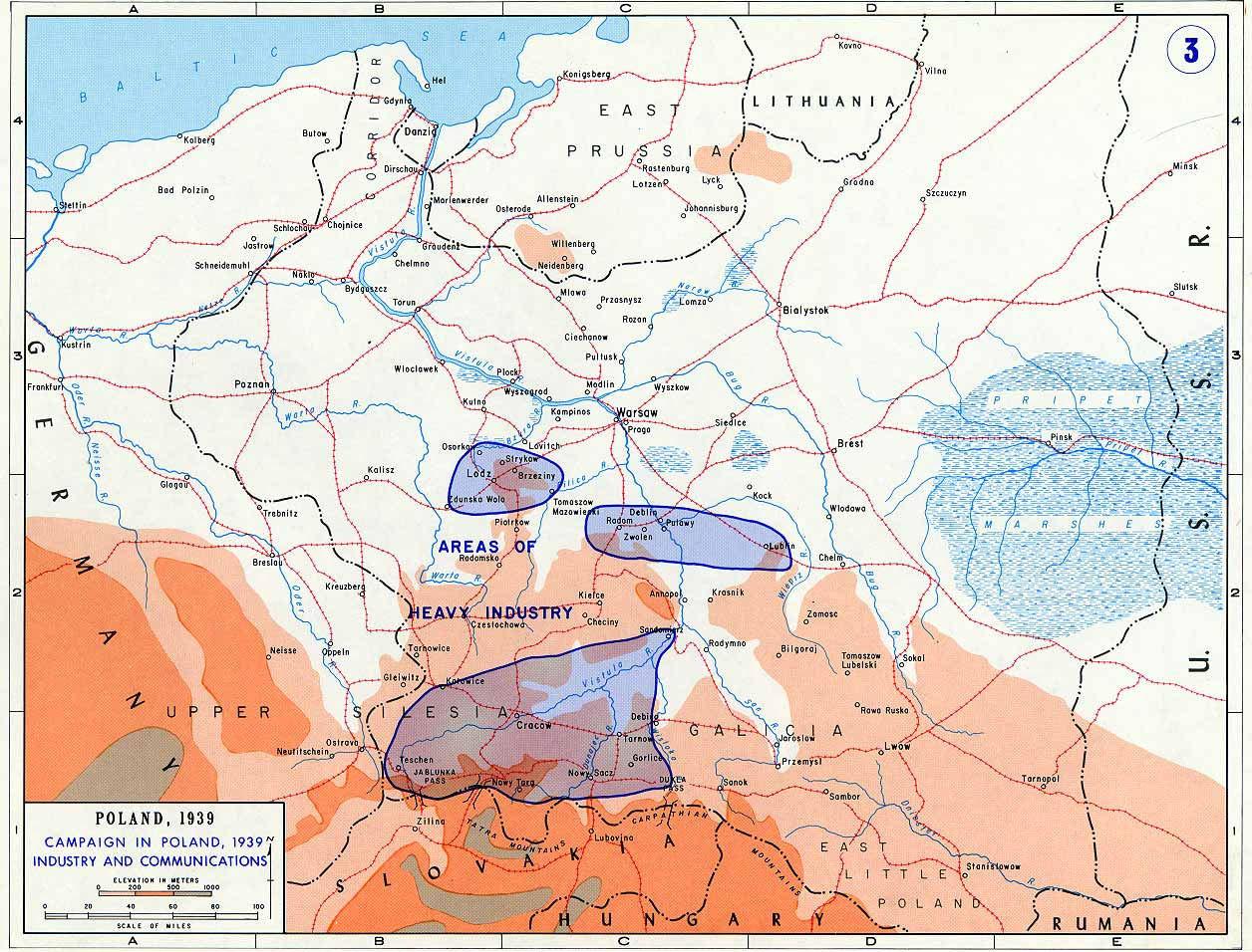 invasion of poland maps u2013 september 1939 historical resources