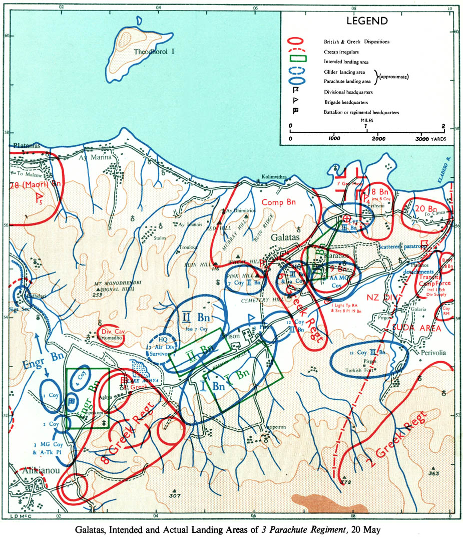 Battle Of Crete Operation Mercury Maps Historical Resources