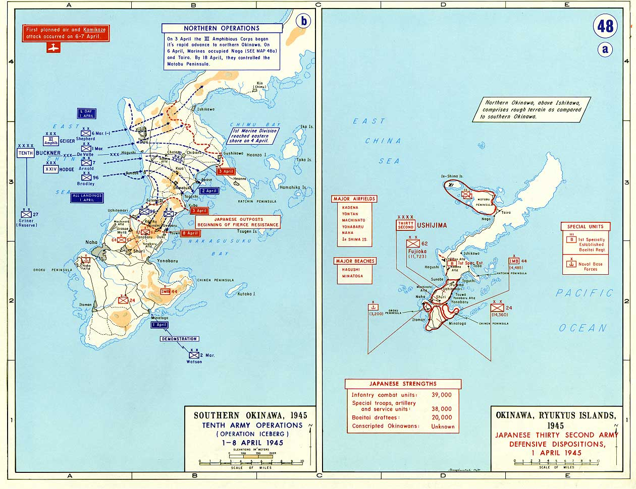 Ivo jima maps historical resources about the second world war invasion of iwo jima and okinawa 1 april 1945 gumiabroncs Choice Image