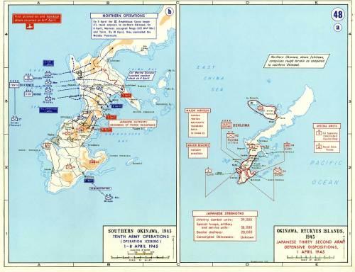 Invasion of Iwo Jima and Okinawa, 1 April 1945