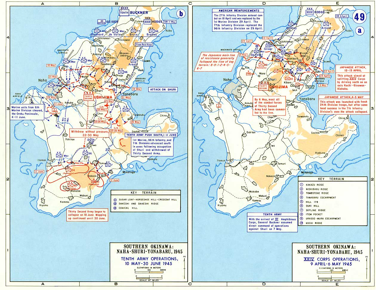 Ivo jima maps historical resources about the second world war invasion of iwo jima and okinawa 9 april 30 june 1945 gumiabroncs Images