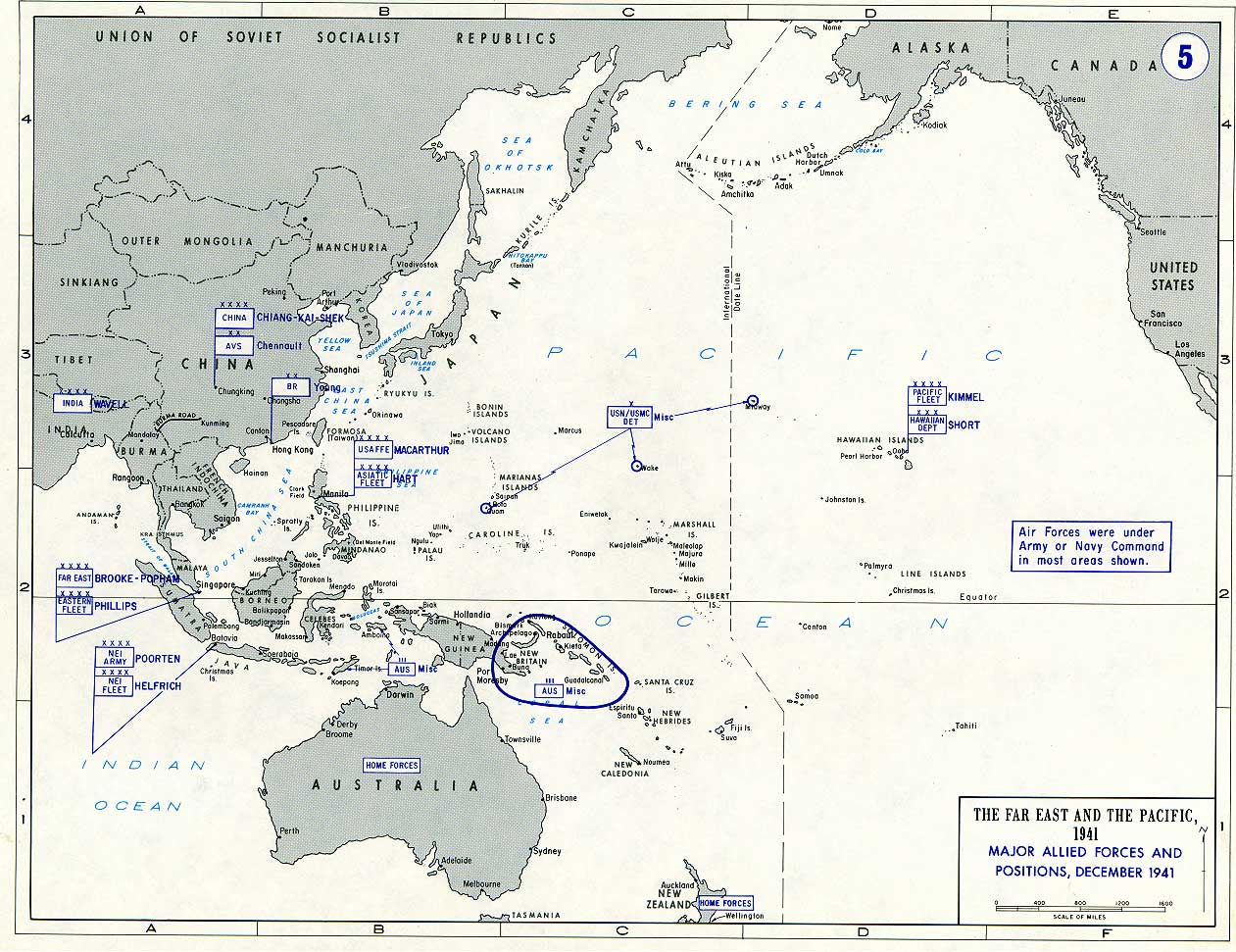 Plans and forces at the beginning of the war december 1941