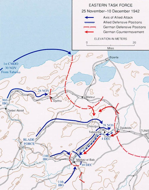 Tunisia, Easten Task Force, 25 Nov-10 Dec 1942