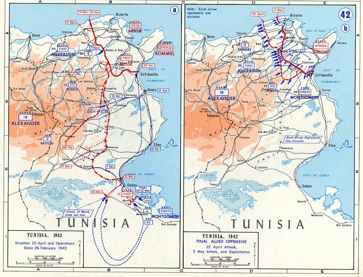 The Tunisia Campaign Battle Of Tunisia Maps November - Map of tunisia world