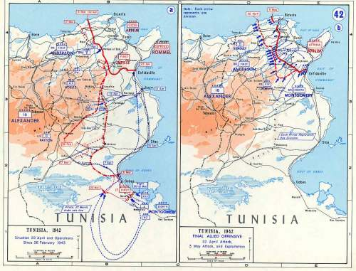 Tunisia, Situation 22 April 1943